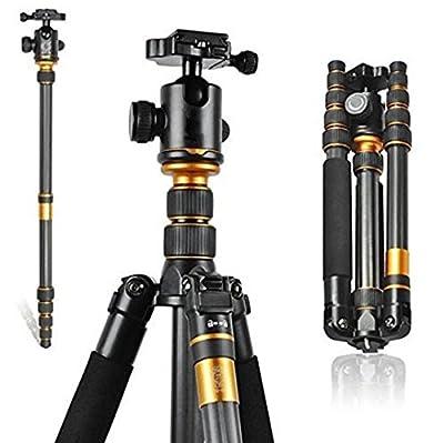 GOWE Professional Carbon Fiber Tripod & Monopod Pro For DSLR Camera / Portable Traveling Tripod Max load to 15kg
