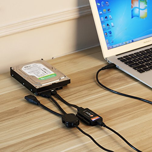 Bipra USB 2.0 to SATA/IDE Adapter Kit with Power Adapter for 2.5/3.5/5.25 Inch SATA or IDE Drive by BIPRA (Image #3)