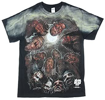 The Walking Dead Zombies Under the Moon Graphic T-Shirt M