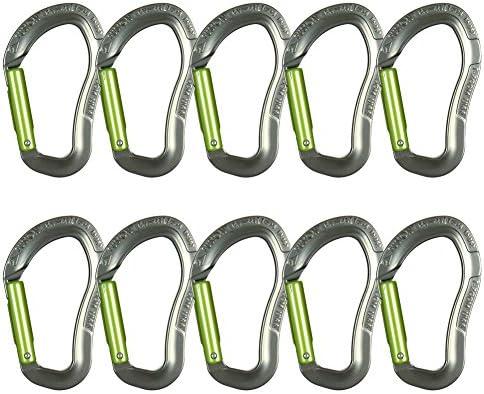 Fusion Climb Techno Zoom Aluminum Straight Gate Ergonomic CE UIAA Certified Carabiner Gray//Green
