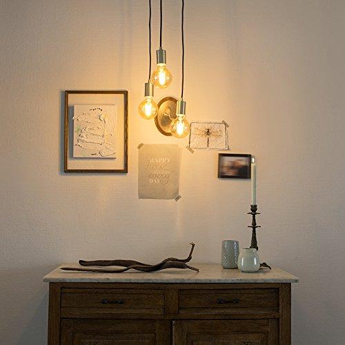 QAZQA Design Modern Pendelleuchte Pendellampe Hängelampe Lampe Leuchte Facil 3-flammig Gold Messing Innenbeleuchtung Wohnzimmerlampe Schlafzimmer Küche Metall Zylinder LED geeignet