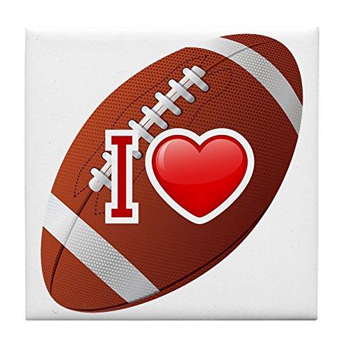 Tile Coaster (Set 4) I Love Football