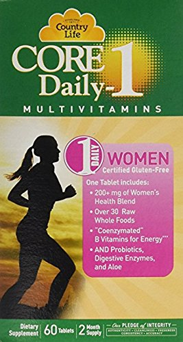 Country Life Core Daily-1 - Dietary Supplement for Women - 60 Tablets, 2 Month - Multi Pack Life Daily