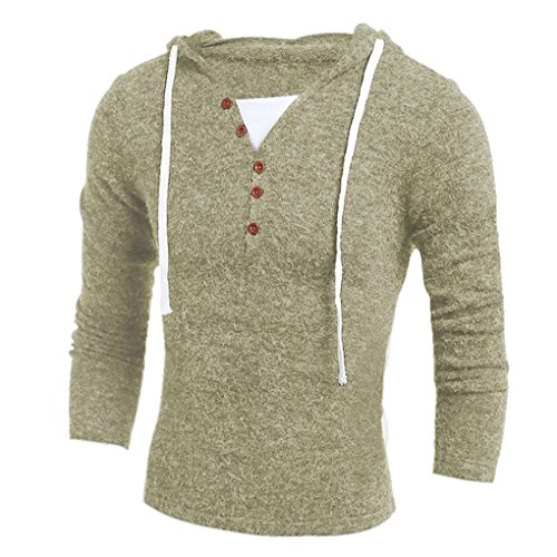 Mens Shirt,Haoricu Autumn Winter Retro Men's Fashion Hooded Sweater Top Blouse Casual