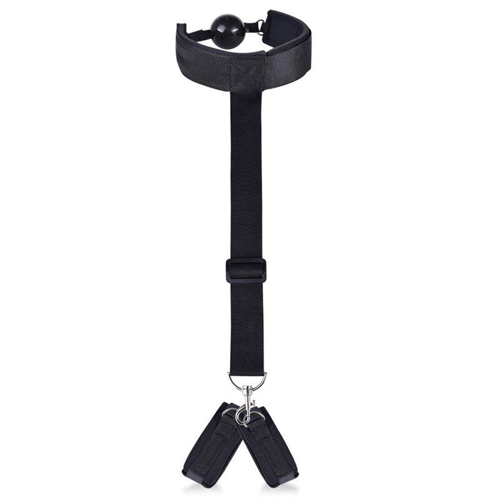 Fetish Bed Restraint Kit with Hand Cuffs Ankle Cuff Bondage Collection for Male Female by A&Dan (Image #8)