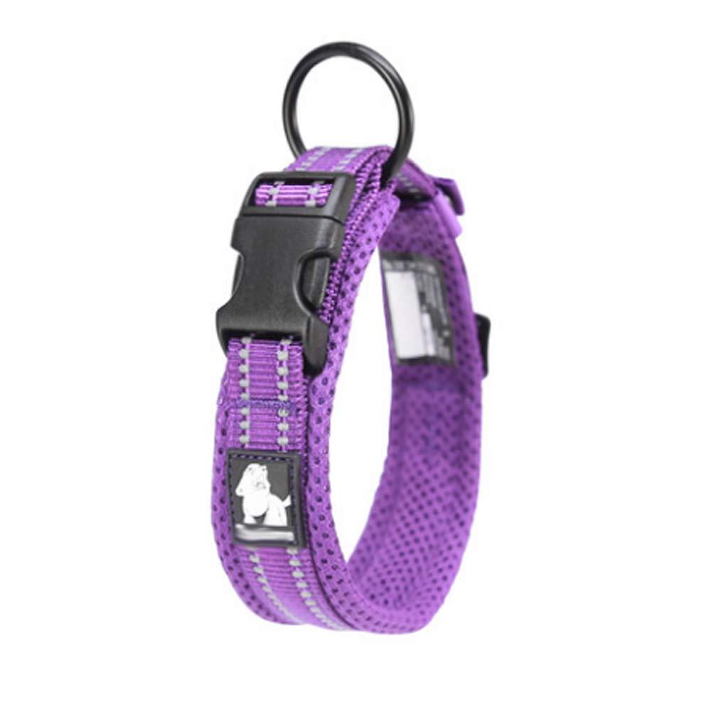 PURPLE 2XSPet Collar  Dog Collar Small Medium and Large Dog pet Supplies (color   Black, Size   M)