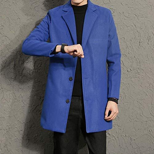 Largo Cremallera Hombres Cierre Los Blau Stand Leisure Regular Ntel Moda Fit Collar Los De De Front Coat Hombres Hombres Los De De Los Hombres qaYwxEEzt