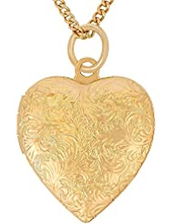 Lifetime Jewelry Heart Locket Necklace for Women and Girls [ Antique ] - Up to 20X More 24k Yellow or White Gold Plating Than Other Photo Lockets - Choice of Pendant with or Without 18 Inch Chain