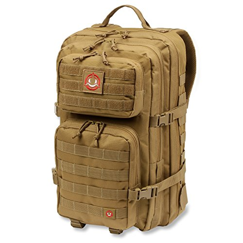 Orca Tactical Backpack SALISH 40L MOLLE Large 3-Day Army Military Survival Bug Out Bag Rucksack Assault Pack (Khaki)