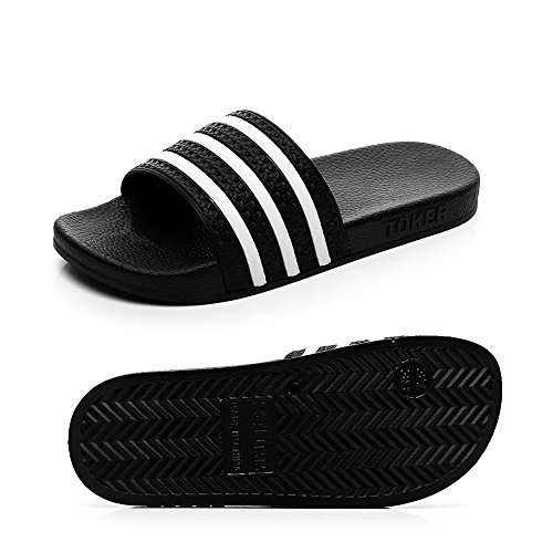 Bathroom Sandals Shower Slipper House YIXIAN Shoes Women's Men Men's Slippers Slip Stripe Non Shamrock C8ZRpF
