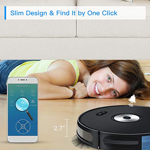 Robot Vacuum Cleaner, iMartine 1600PA Robotic Vacuum Cleaner Wi-Fi Connectivity Works with Alexa, Self-Charging, Smart Mapping, Super Slim, with Boundary Strips, Best for Hard Floor, Carpets, Pet Hair