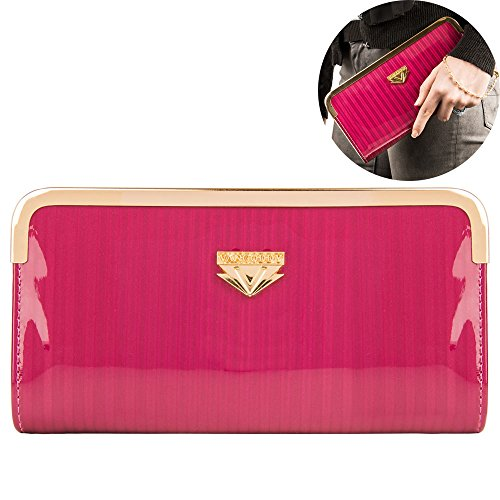 Leather Wristlet Purses Clutch Phone Wallets with Card Slots for Women