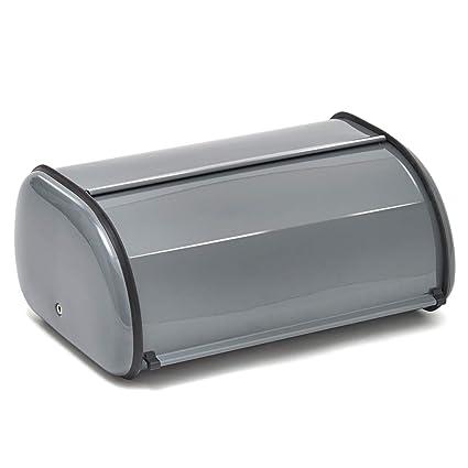 EZOWare Panera Caja de Almacenamiento de Pan en Acero para Ahorrar Espacio con Tapa Deslizante,