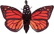 Folkmanis Monarch Life Cycle Reversible Hand Puppet Plush, Red-Orange/Purple/Black, 8&