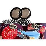 Black Out Red LED 1156 Bulb Rear Turn Signal Light Insert Harley Bullet Smoke Lens