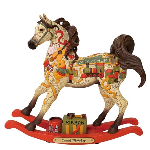 (Enesco Trail of Painted Ponies Santa's Workshop Figurine)