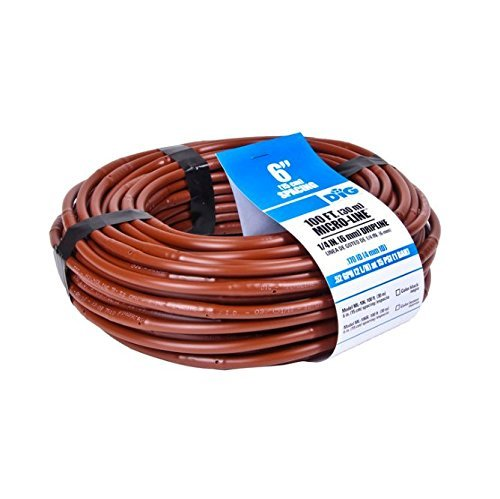 Dig SHB106 1/4-Inch x 100-Feet Dripline with 6-Inch Emitter Spacing (Brown)