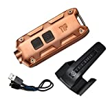 Nitecore TIP 2017 Upgrade 360 Lumen USB Rechargeable Keychain Flashlight & LumenTac USB Charging Cable (Copper, More color in Options)
