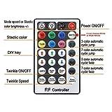 CHINLY 16W RGBW Twinkle 28key RF Remote LED Fiber