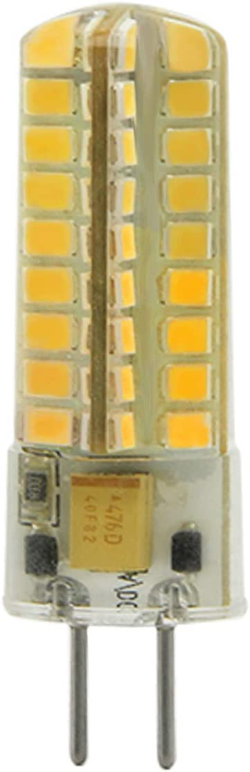 SEAMI 2-Packs 5W 12V G6.35/GY6.35 Bi-Pin Base Bombilla LED 450 Lúmen Blanco Cálido 3000K Equivalente 50W halógena Lámpara[Clase de eficiencia energética A+]