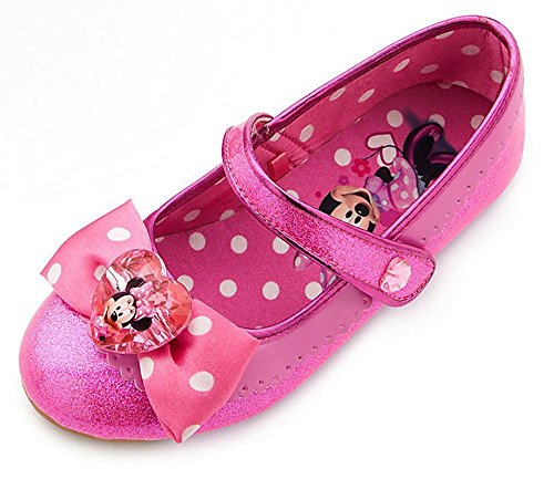 40ed46eb4c80f Amazon.com  Disney Store Deluxe Pink Minnie Mouse Shoes Heels Wedge Size  5-6 M US Toddler  Shoes