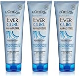 L'Oreal Hair Expert / Paris - EverCurl - Hydracharge Conditioner - With Coconut Oil - Net Wt. 8.5 FL OZ (250 mL) Per Tube - Pack of 3 Tubes