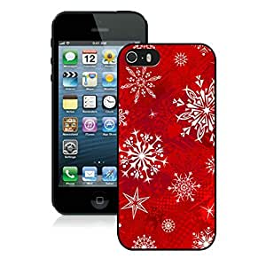 Customized Design Iphone 5S Protective Cover Case Christmas Snowflake iPhone 5 5S TPU Case 11 Black