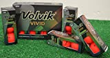 3 Dozen Volvik Vivid Matte Red Golf Balls - New in Box