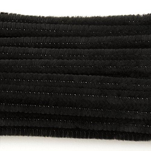 Black 6 Millimeter, Chenille Stems, 100 Piece -