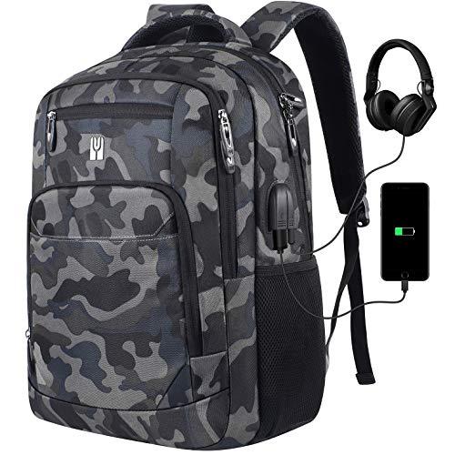 Laptop Backpack for Men,School Backpack for Teens College Bookbag with USB Charging Port