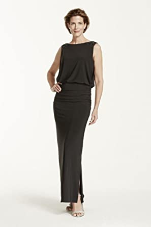 6ab75976100 Long Jersey Blouson Mother of Bride Groom Dress with Open Back Style 21296