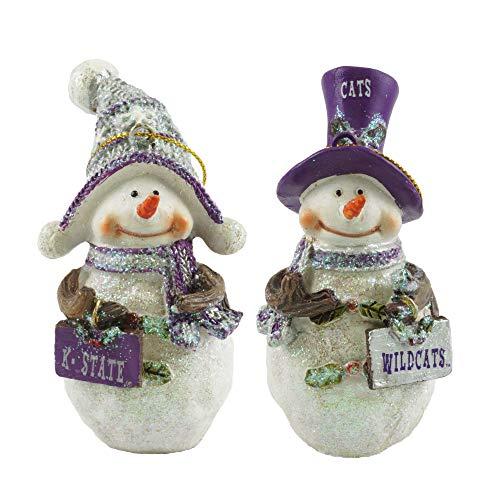 Kansas State Wildcats Collegiate Snowman Christmas Ornaments