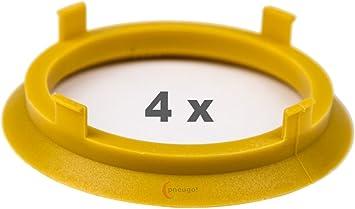 4 X Zentrierringe 70 1 Mm Auf 60 1 Mm Gelb Yellow Auto