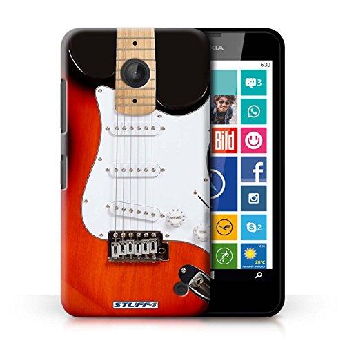 Kobalt® Imprimé Etui / Coque pour Nokia Lumia 635 / Rouge Electrique conception / Série Guitare
