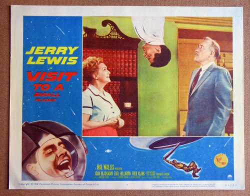 DC51 Visit To A Small Planet JERRY LEWIS '60 mint LC. This is an original lobby card; not a dvd or video. Lobby cards were used to advertise film playing at theater and they measure 11 by 14 inches. (Visit To A Small Planet Jerry Lewis)