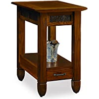 Slatestone  Oak Chairside End Table - Rustic Oak Finish