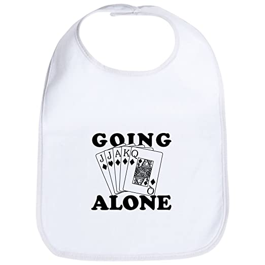 554fc482f Amazon.com: CafePress - Euchre Going Alone/Loner Bib - Cute Cloth Baby Bib,  Toddler Bib: Clothing