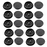 uxcell Plastic PC Computer Desk Grommet Cable Hole Cover 50mm Diameter 20 Pcs Black