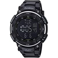 Armitron Sport Men's 40/8254 Digital Chronograph Resin Strap Watch (Black)