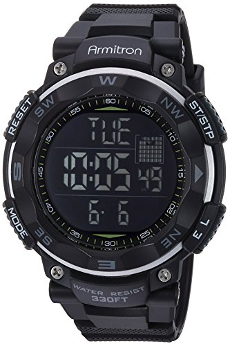 Armitron Sport Men's 40/8254BLK Black Digital Chronograph Watch