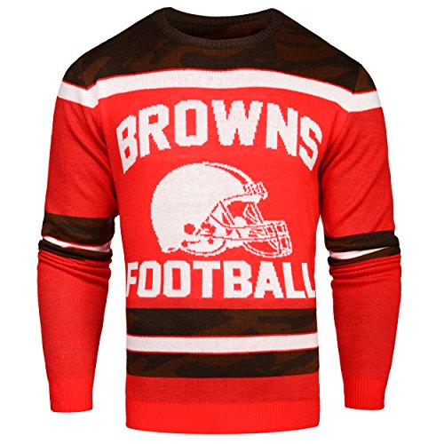FOCO Cleveland Browns Ugly Glow in The Dark Sweater - Mens - Mens Large by FOCO