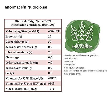 Energy Feelings Hierba de Trigo Verde Ecológica Pulverizada - 1 Paquete de 200 gr