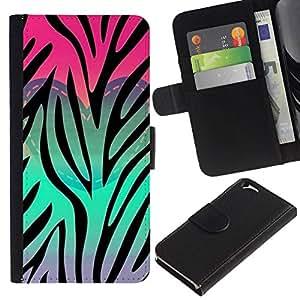 All Phone Most Case / Oferta Especial Cáscara Funda de cuero Monedero Cubierta de proteccion Caso / Wallet Case for Apple Iphone 6 // Heart Teal Pink Purple Pattern