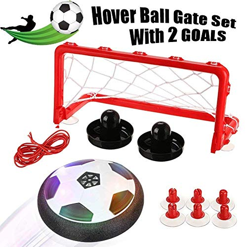 Kkapony Kids Toys, Hover Soccer Ball Air Power Disc for Boys and Girls Age of 2,3,4,5,6,7,8+Years Old, Indoor Sport Ball with Led Lights for Toddlers, Kids,Children Gifts