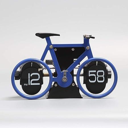 CZZJH Reloj Despertador Bicicleta Creativa Reloj Giratorio Personalidad Forma De Bicicleta Reloj De Césped De Escritorio Adornos Simples para La Decoración del Hogar: Amazon.es: Hogar