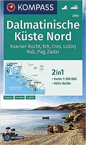 Dalmatinische Kuste Nord 1 100 000 Wanderkarte Gps Genau
