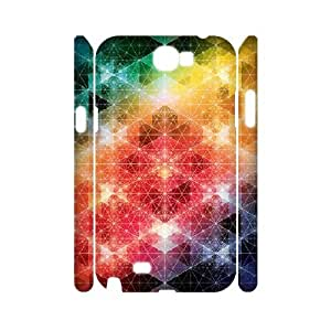 3D Samsung Galaxy Note 2 Case,Kaleidoscopic 3 Hard Shell Back Case for White Samsung Galaxy Note 2