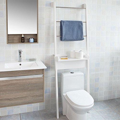 Charming SoBuy® Mueble Para Baño WC, Estantería De Baño De MDF, Toalleros Repisa,  Blanco, FRG118 W, ES   Muebles De Baño Online