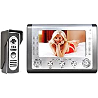 MOUNTAINONE 7 Inch Video Door Phone Doorbell Intercom Kit 1-camera 1-monitor Night Vision