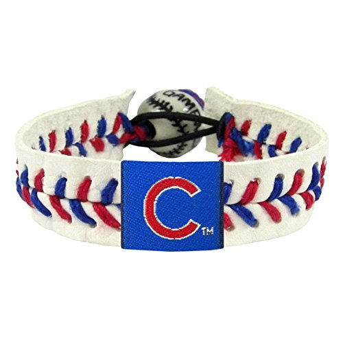 (Chicago Cubs Classic Baseball Bracelet)